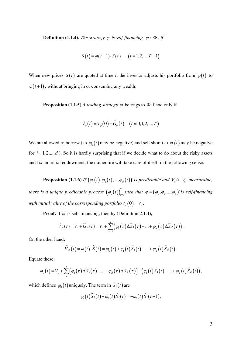 Anteprima della tesi: Valuation in Incomplete Markets, Pagina 5