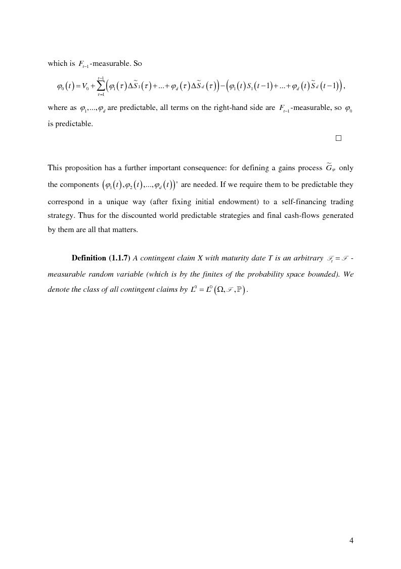 Anteprima della tesi: Valuation in Incomplete Markets, Pagina 6