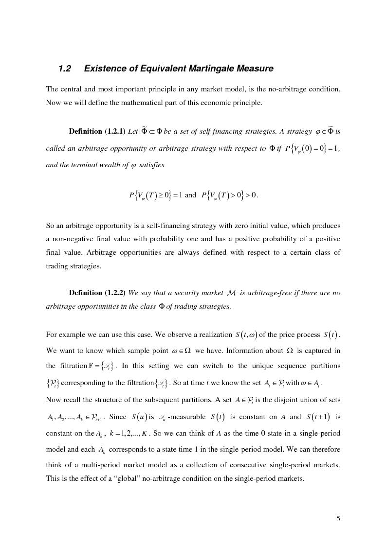 Anteprima della tesi: Valuation in Incomplete Markets, Pagina 7