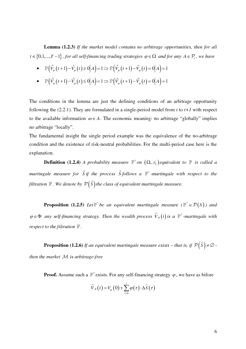 Anteprima della tesi: Valuation in Incomplete Markets, Pagina 8