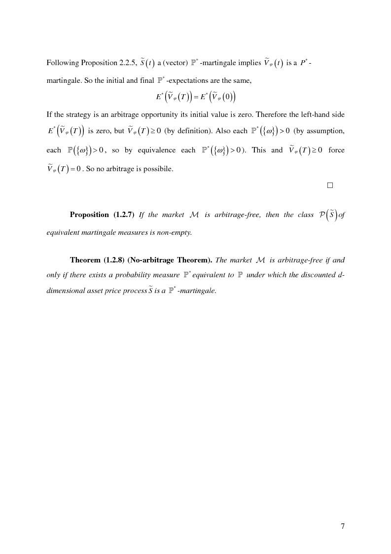 Anteprima della tesi: Valuation in Incomplete Markets, Pagina 9