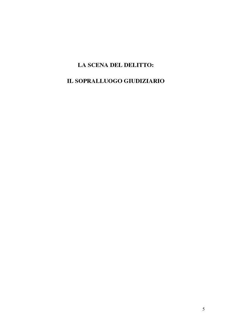 Anteprima della tesi: Dall'analisi della scena del delitto al profilo psicologico del criminale, Pagina 2