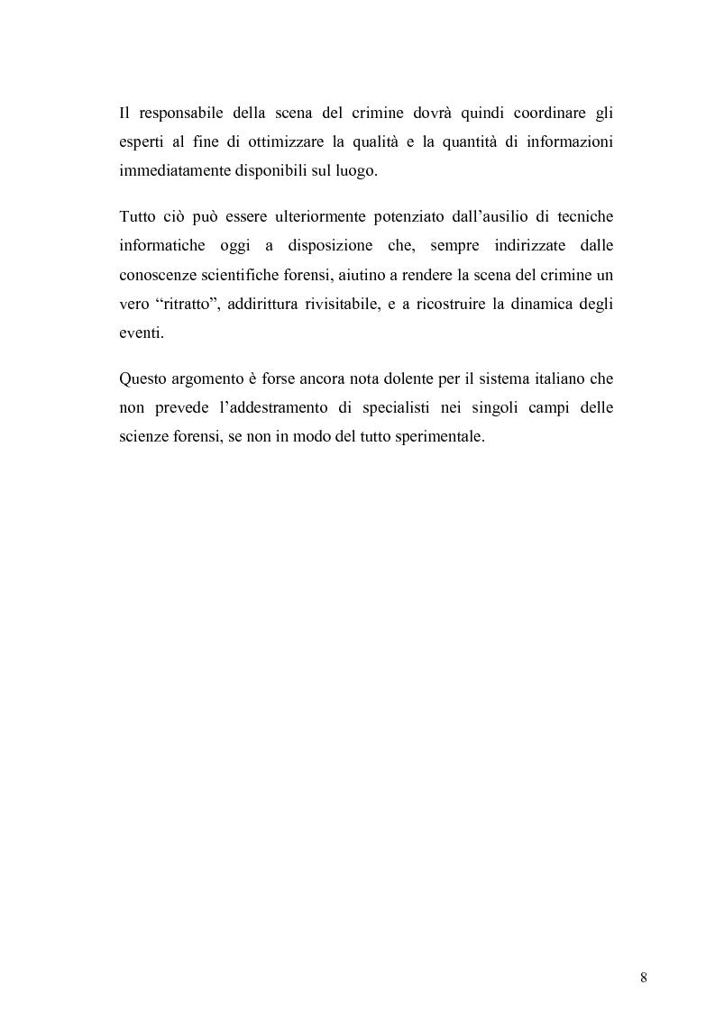 Anteprima della tesi: Dall'analisi della scena del delitto al profilo psicologico del criminale, Pagina 5