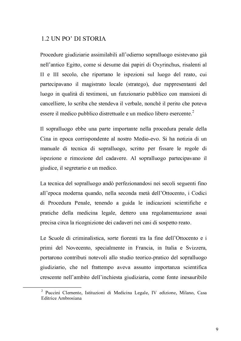 Anteprima della tesi: Dall'analisi della scena del delitto al profilo psicologico del criminale, Pagina 6