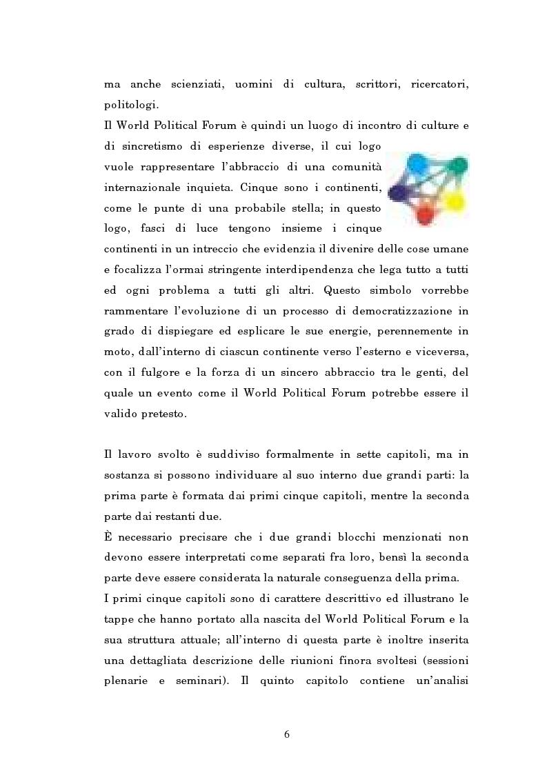 Anteprima della tesi: Il mondo intellettuale al servizio dell'ordine internazionale: The World Political Forum, Pagina 2