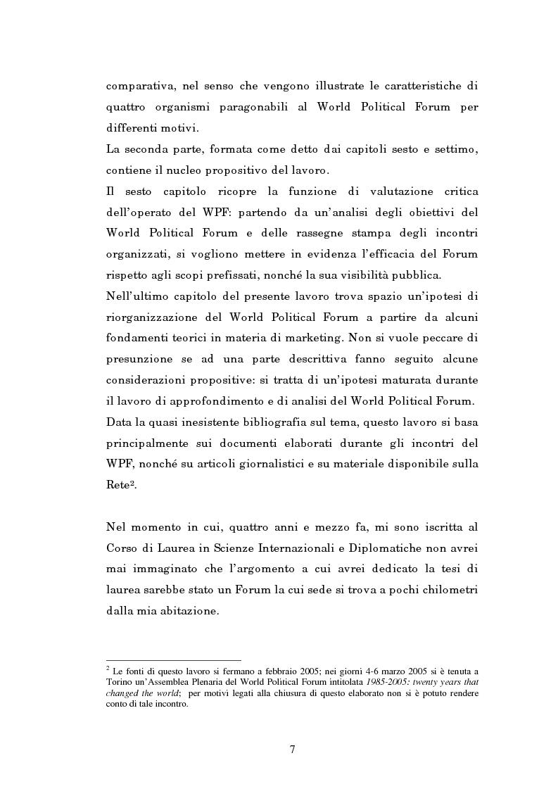 Anteprima della tesi: Il mondo intellettuale al servizio dell'ordine internazionale: The World Political Forum, Pagina 3