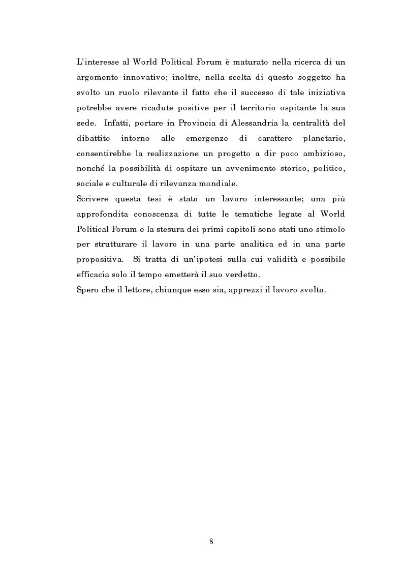 Anteprima della tesi: Il mondo intellettuale al servizio dell'ordine internazionale: The World Political Forum, Pagina 4