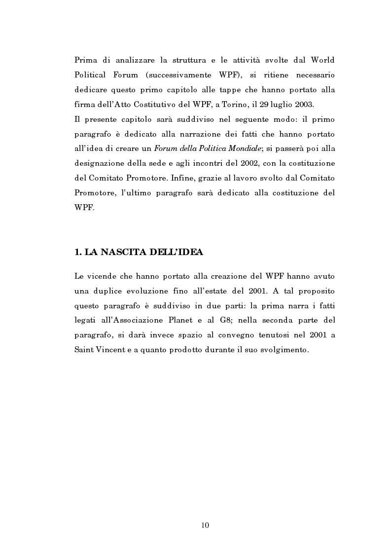 Anteprima della tesi: Il mondo intellettuale al servizio dell'ordine internazionale: The World Political Forum, Pagina 6