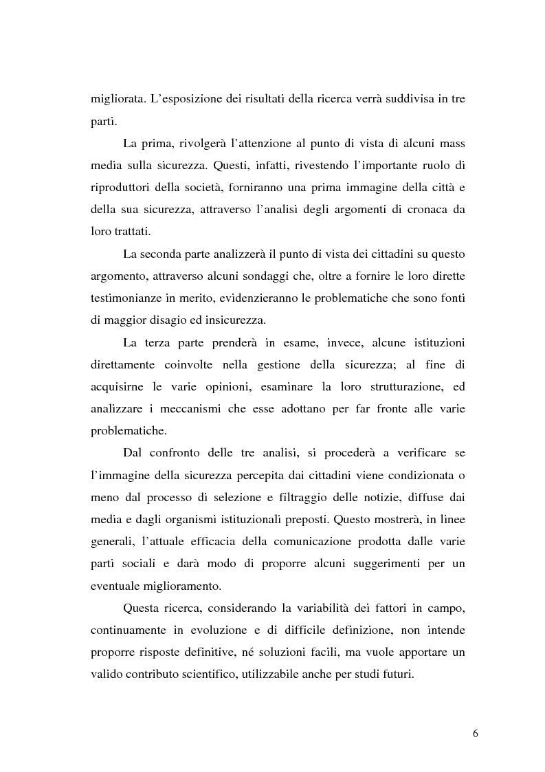 Anteprima della tesi: Comunicare la sicurezza a Perugia, Pagina 2