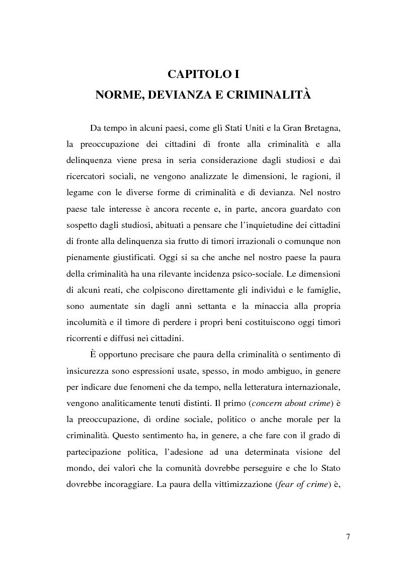 Anteprima della tesi: Comunicare la sicurezza a Perugia, Pagina 3