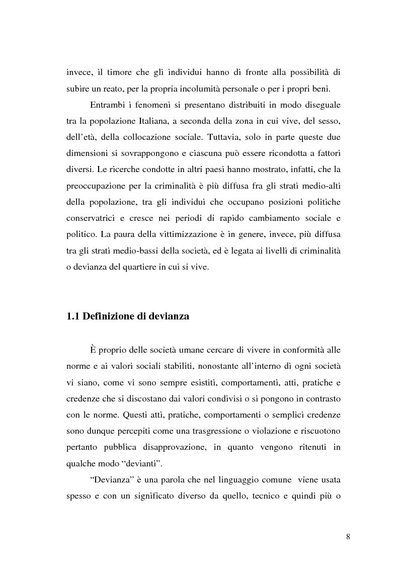 Anteprima della tesi: Comunicare la sicurezza a Perugia, Pagina 4