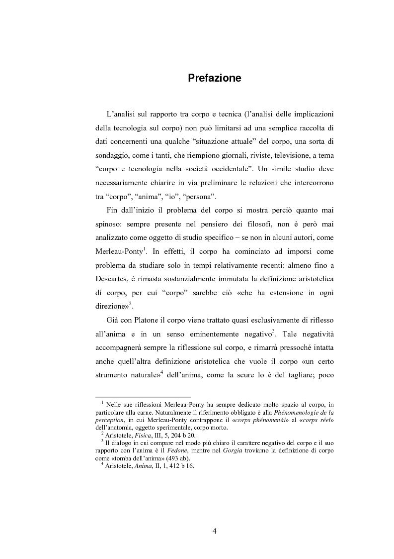 Anteprima della tesi: Il corpo ingannato tra metafisica e tecnologia, Pagina 1