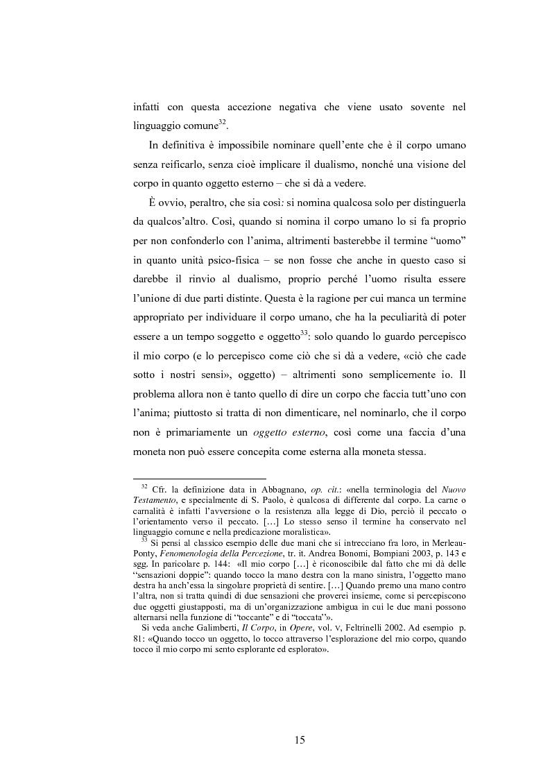 Anteprima della tesi: Il corpo ingannato tra metafisica e tecnologia, Pagina 12