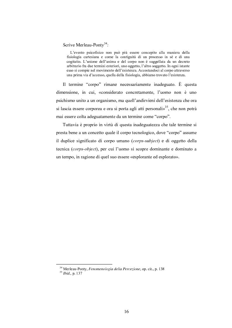 Anteprima della tesi: Il corpo ingannato tra metafisica e tecnologia, Pagina 13