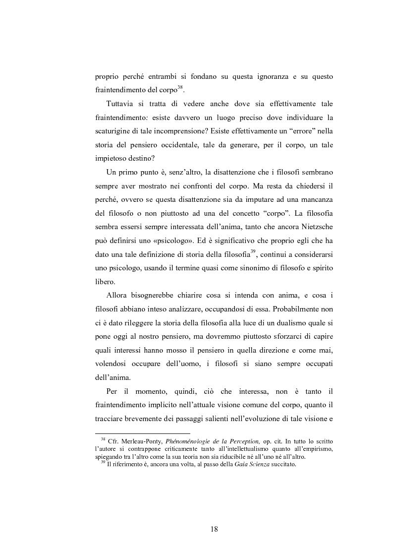 Anteprima della tesi: Il corpo ingannato tra metafisica e tecnologia, Pagina 15