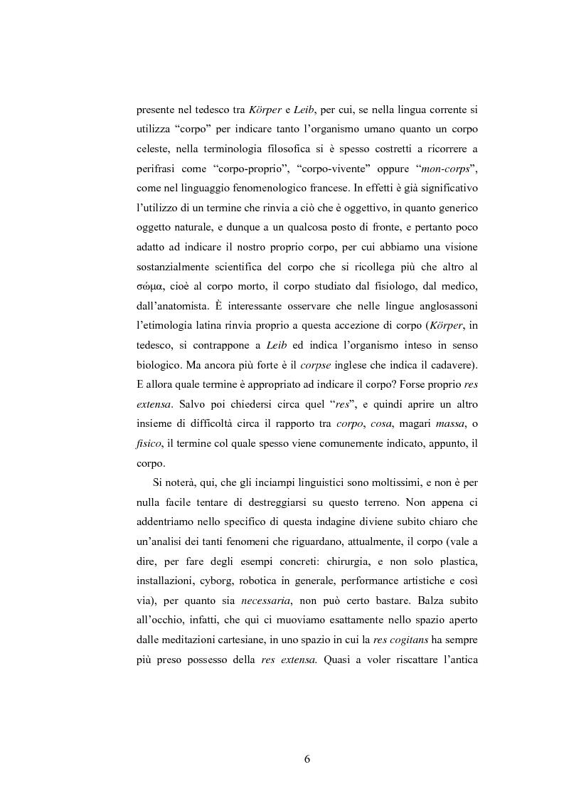 Anteprima della tesi: Il corpo ingannato tra metafisica e tecnologia, Pagina 3