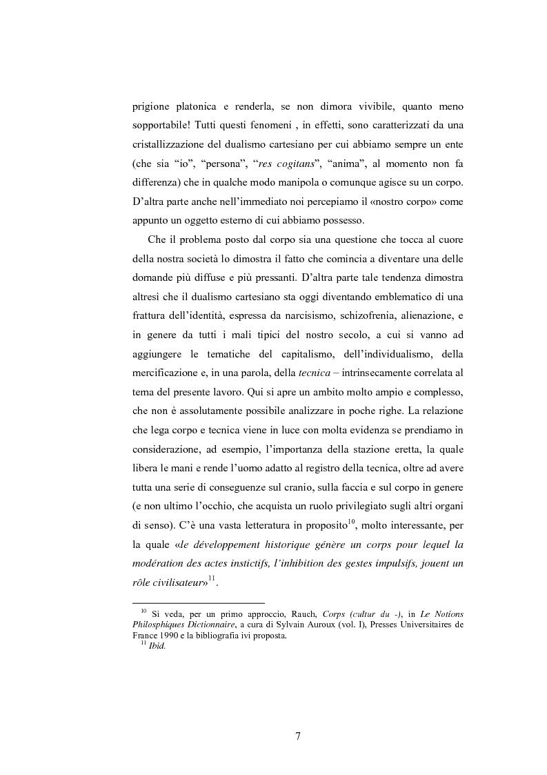 Anteprima della tesi: Il corpo ingannato tra metafisica e tecnologia, Pagina 4