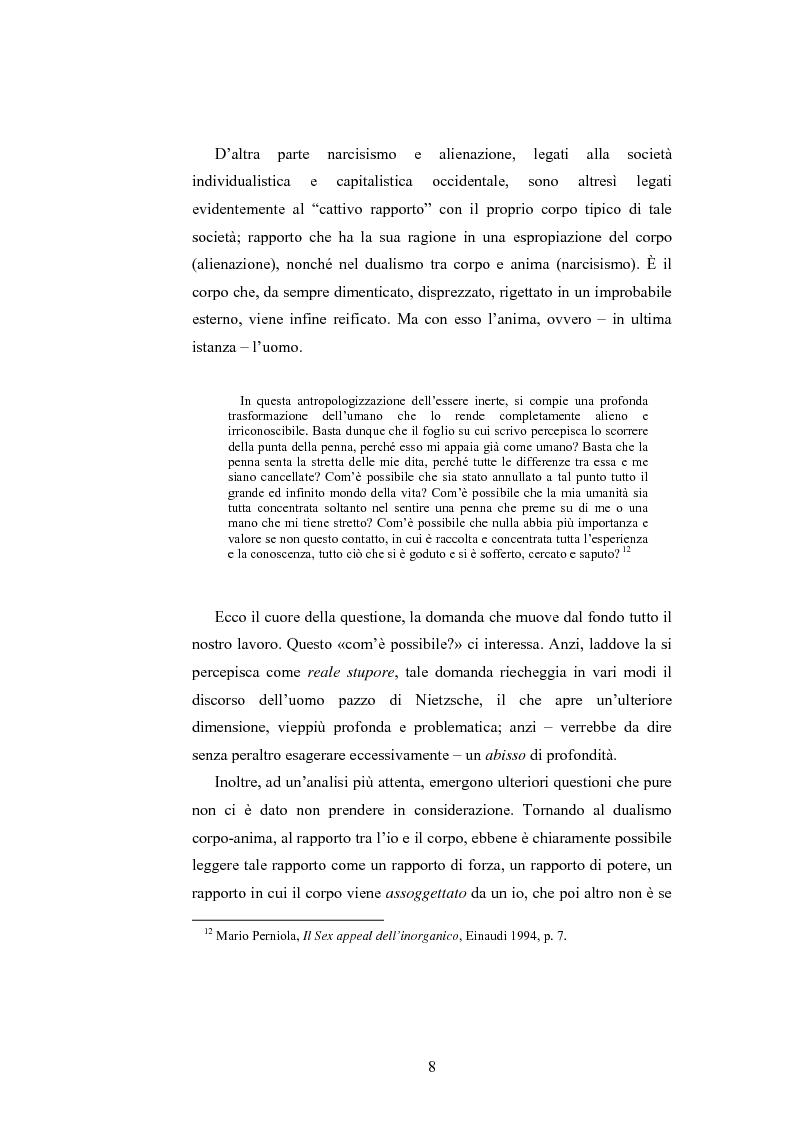 Anteprima della tesi: Il corpo ingannato tra metafisica e tecnologia, Pagina 5