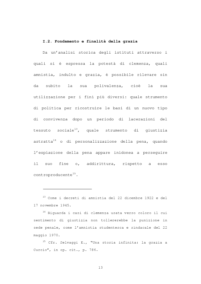 Anteprima della tesi: La grazia: potere presidenziale e controfirma ministeriale, Pagina 10