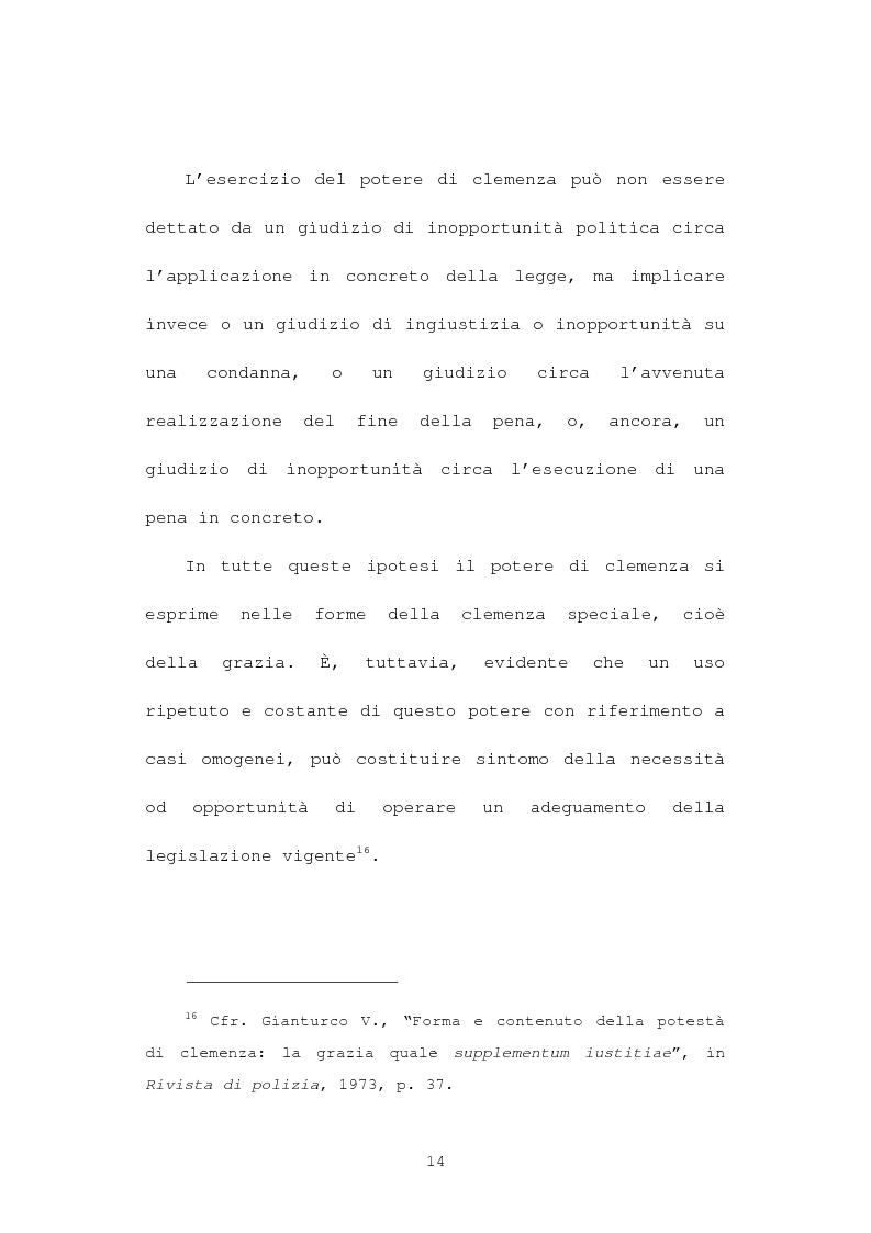 Anteprima della tesi: La grazia: potere presidenziale e controfirma ministeriale, Pagina 11