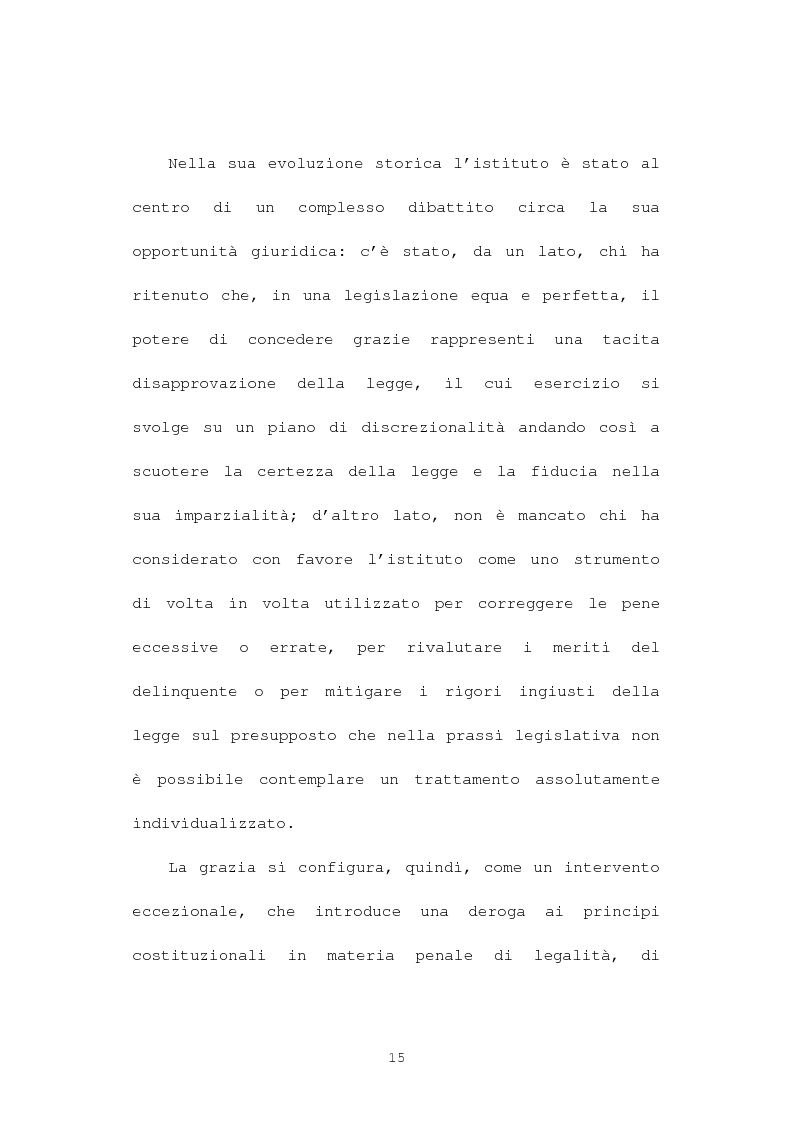 Anteprima della tesi: La grazia: potere presidenziale e controfirma ministeriale, Pagina 12