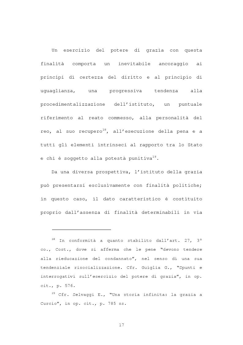 Anteprima della tesi: La grazia: potere presidenziale e controfirma ministeriale, Pagina 14