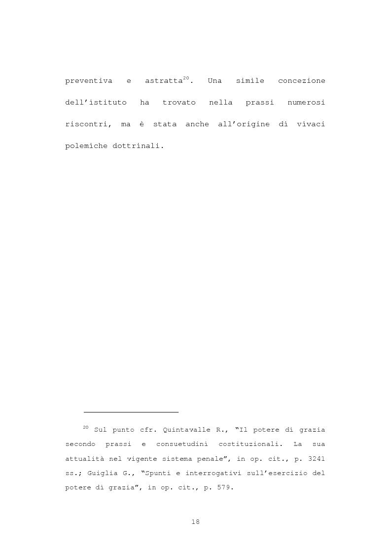 Anteprima della tesi: La grazia: potere presidenziale e controfirma ministeriale, Pagina 15