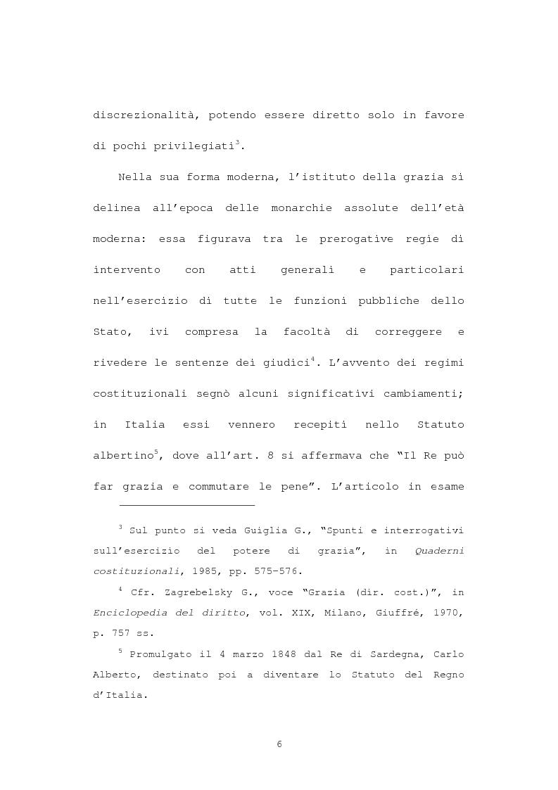 Anteprima della tesi: La grazia: potere presidenziale e controfirma ministeriale, Pagina 3