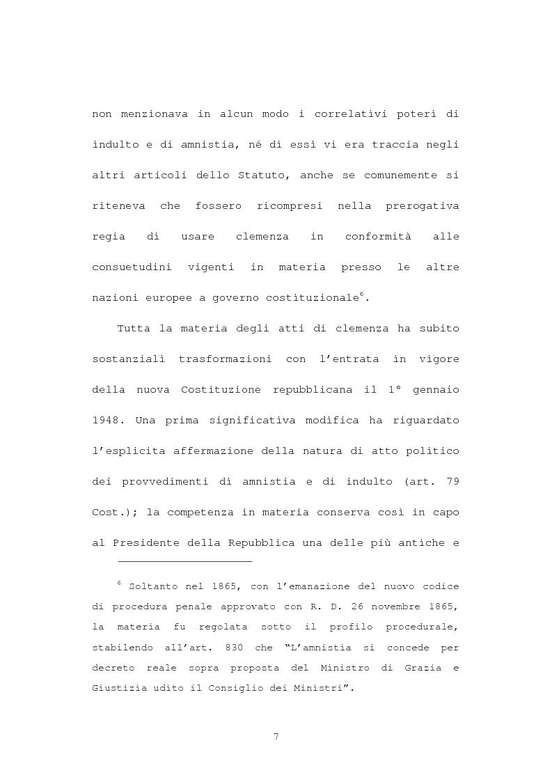 Anteprima della tesi: La grazia: potere presidenziale e controfirma ministeriale, Pagina 4