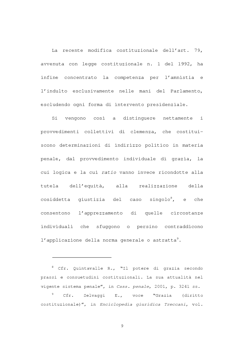 Anteprima della tesi: La grazia: potere presidenziale e controfirma ministeriale, Pagina 6
