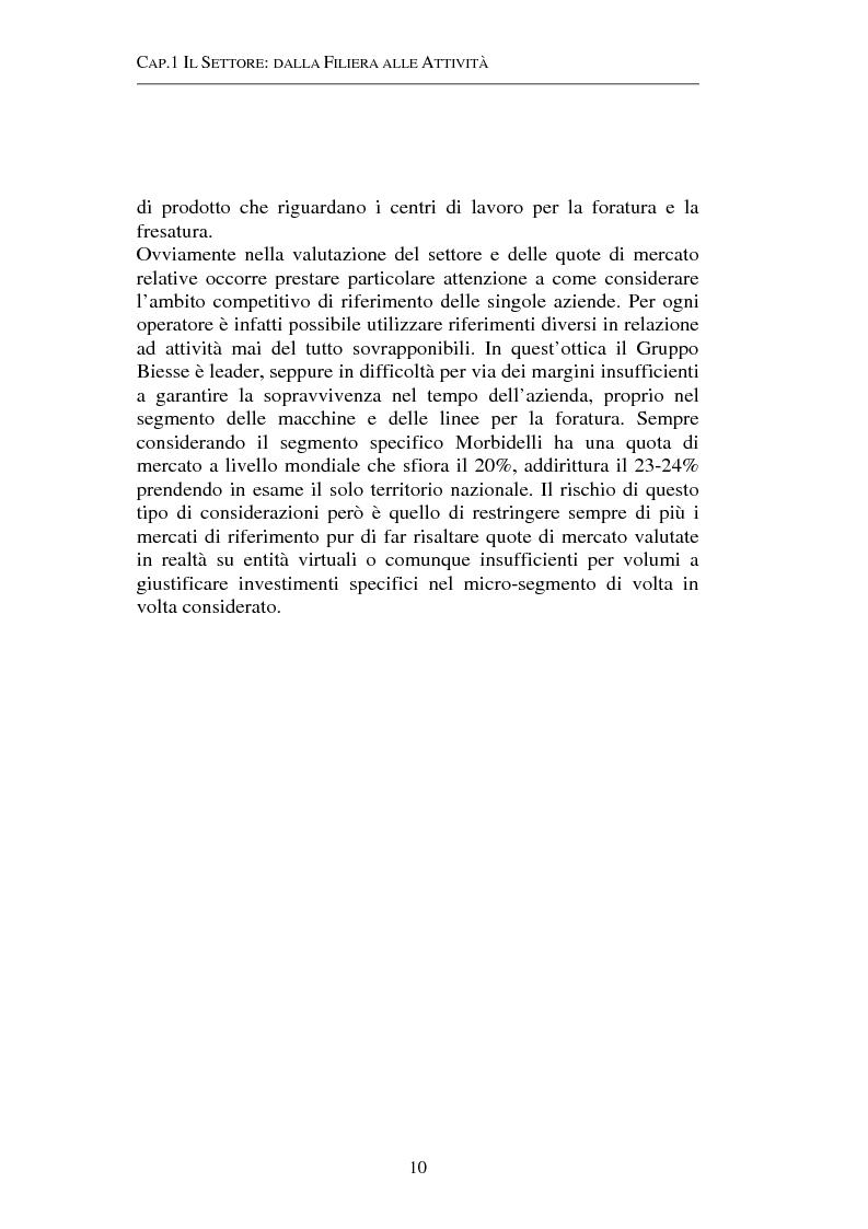 Anteprima della tesi: Gestione strategica dei costi e creazione di valore per il cliente: il caso delle macchine per la lavorazione del legno, Pagina 10