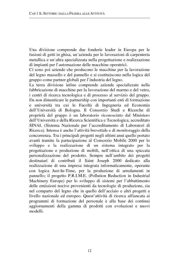 Anteprima della tesi: Gestione strategica dei costi e creazione di valore per il cliente: il caso delle macchine per la lavorazione del legno, Pagina 12