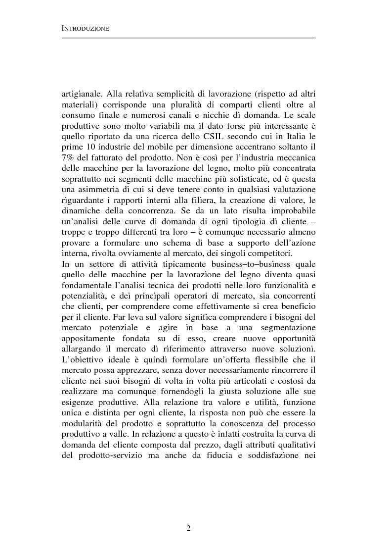 Anteprima della tesi: Gestione strategica dei costi e creazione di valore per il cliente: il caso delle macchine per la lavorazione del legno, Pagina 2