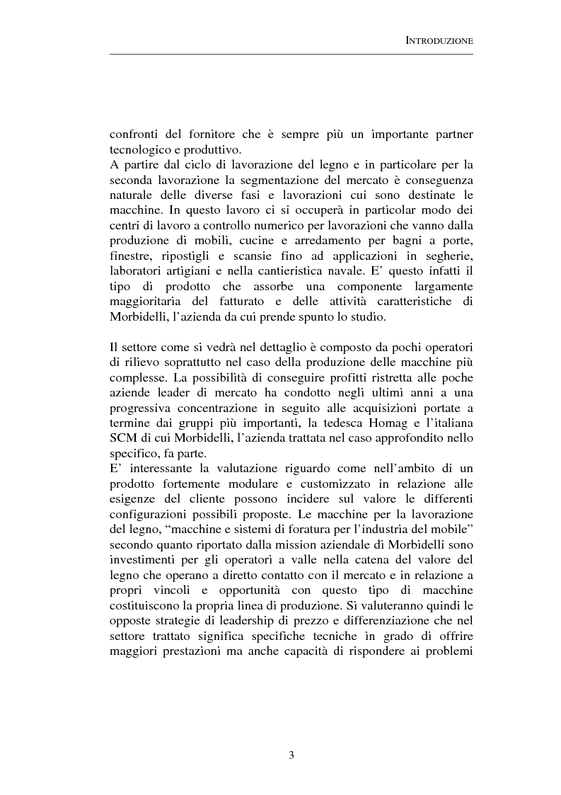 Anteprima della tesi: Gestione strategica dei costi e creazione di valore per il cliente: il caso delle macchine per la lavorazione del legno, Pagina 3