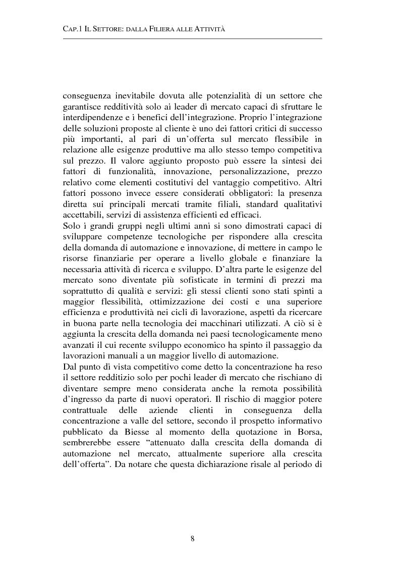 Anteprima della tesi: Gestione strategica dei costi e creazione di valore per il cliente: il caso delle macchine per la lavorazione del legno, Pagina 8