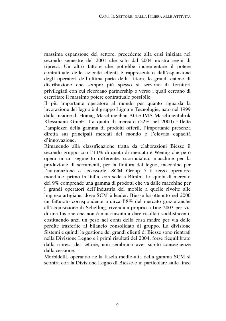 Anteprima della tesi: Gestione strategica dei costi e creazione di valore per il cliente: il caso delle macchine per la lavorazione del legno, Pagina 9