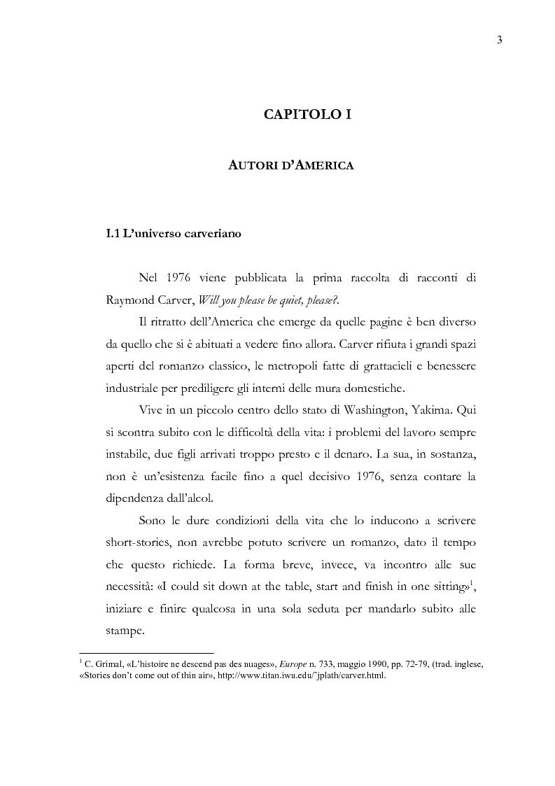 Anteprima della tesi: Dalle parole alle immagini: Robert Altman interpreta Raymond Carver, Pagina 3