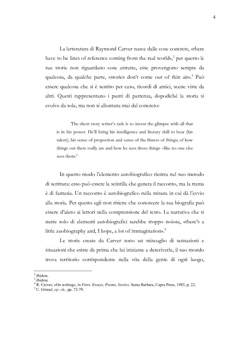 Anteprima della tesi: Dalle parole alle immagini: Robert Altman interpreta Raymond Carver, Pagina 4