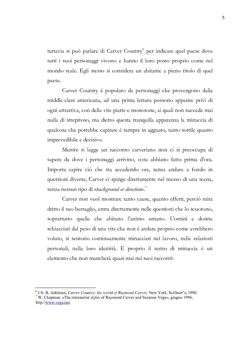 Anteprima della tesi: Dalle parole alle immagini: Robert Altman interpreta Raymond Carver, Pagina 5