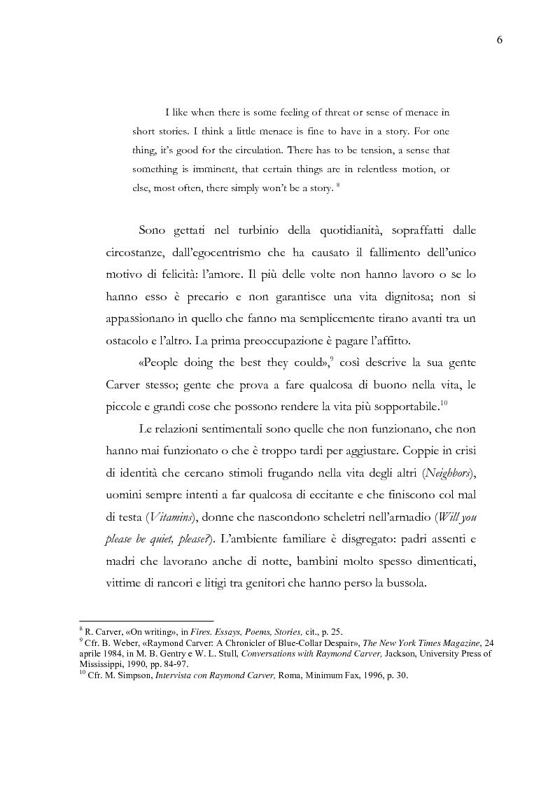 Anteprima della tesi: Dalle parole alle immagini: Robert Altman interpreta Raymond Carver, Pagina 6