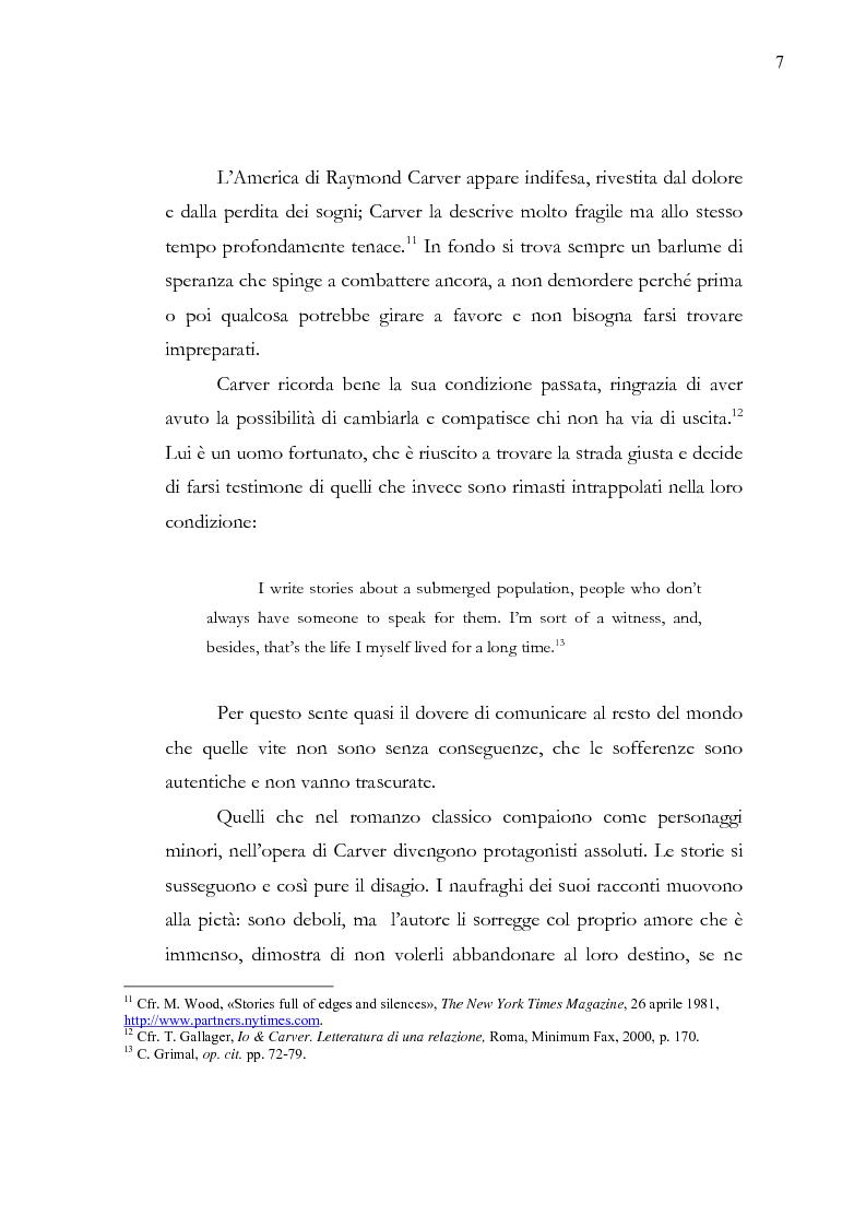 Anteprima della tesi: Dalle parole alle immagini: Robert Altman interpreta Raymond Carver, Pagina 7