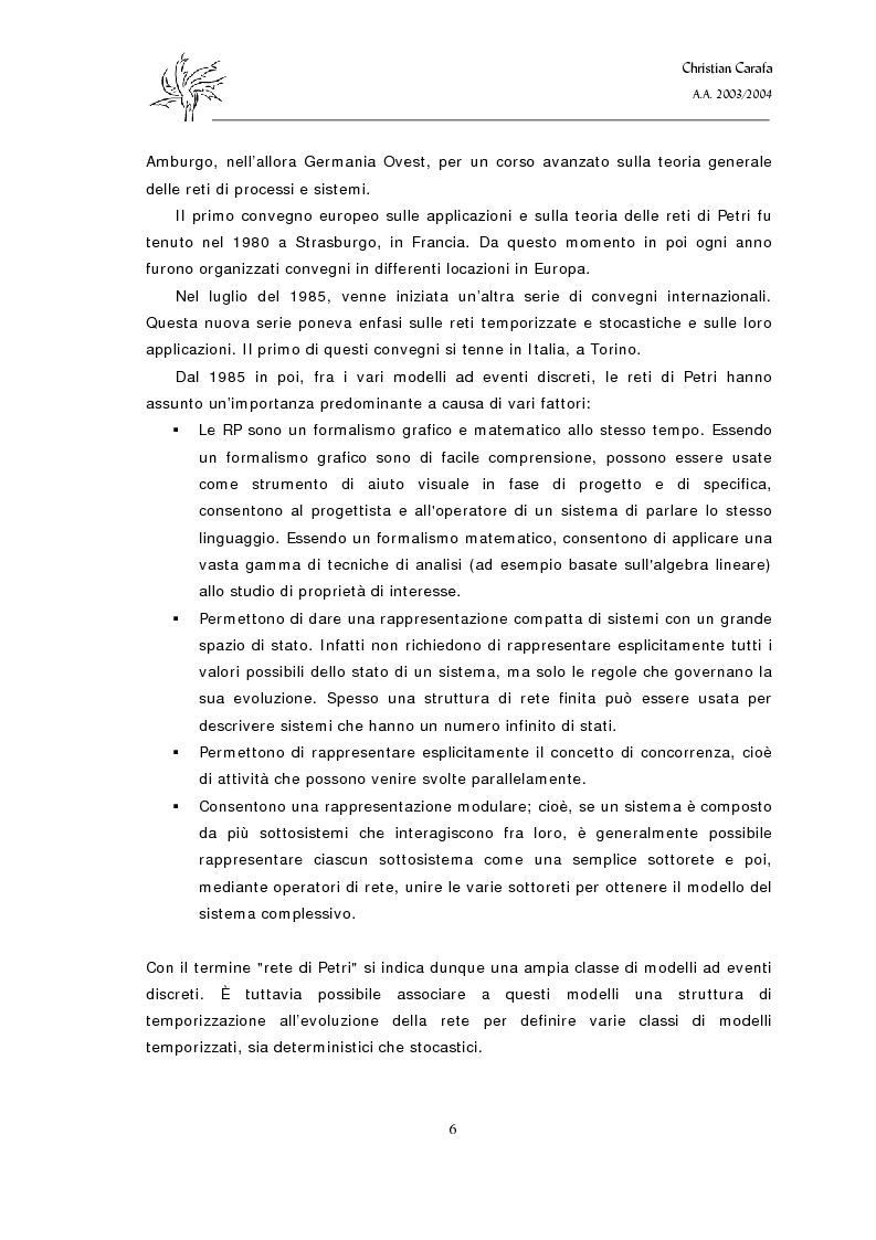 Anteprima della tesi: Analisi e confronto dei software di simulazione di Reti di Petri, Pagina 2