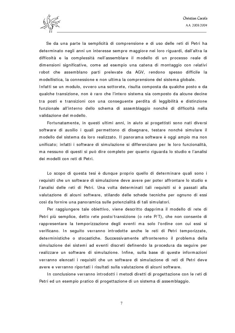 Anteprima della tesi: Analisi e confronto dei software di simulazione di Reti di Petri, Pagina 3