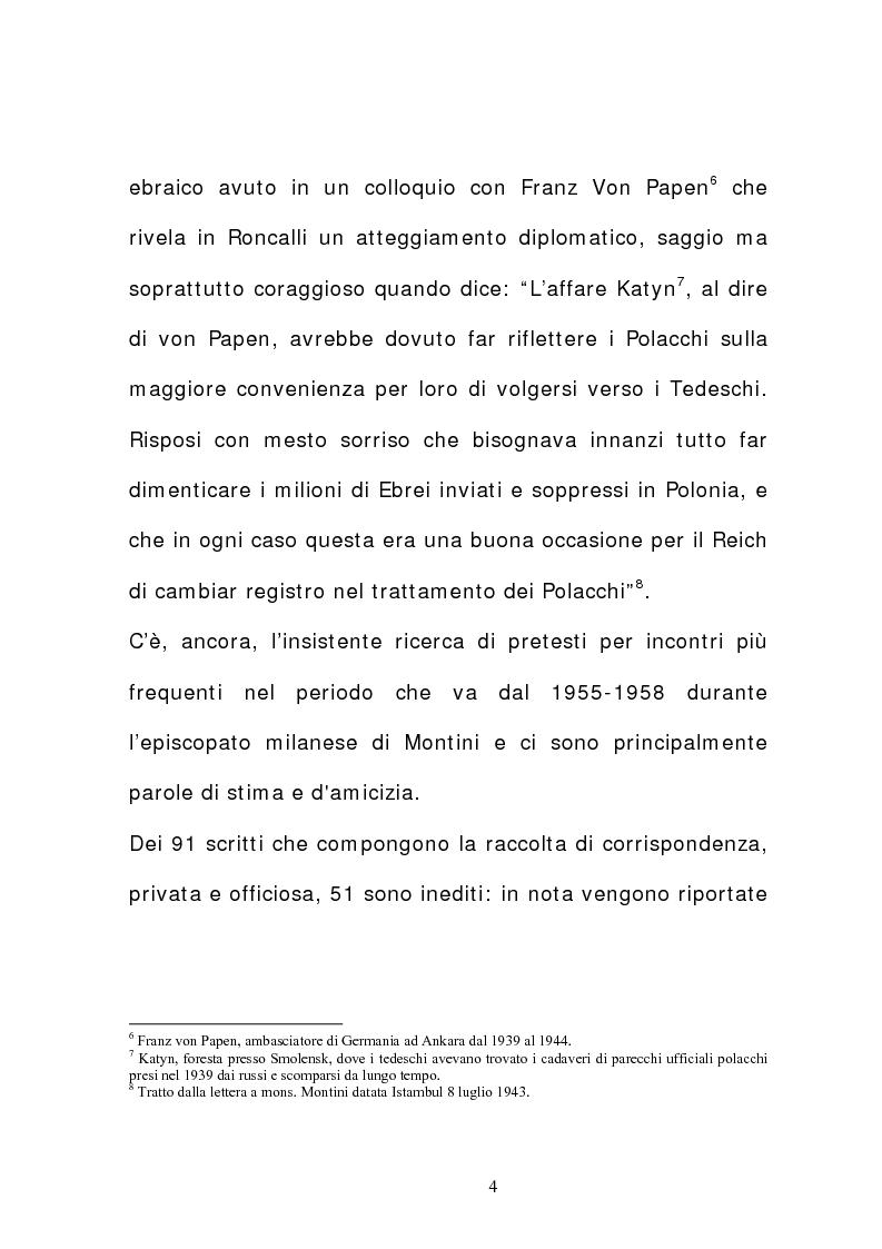 Anteprima della tesi: La corrispondenza tra Roncalli e Montini (1925-1962), Pagina 3