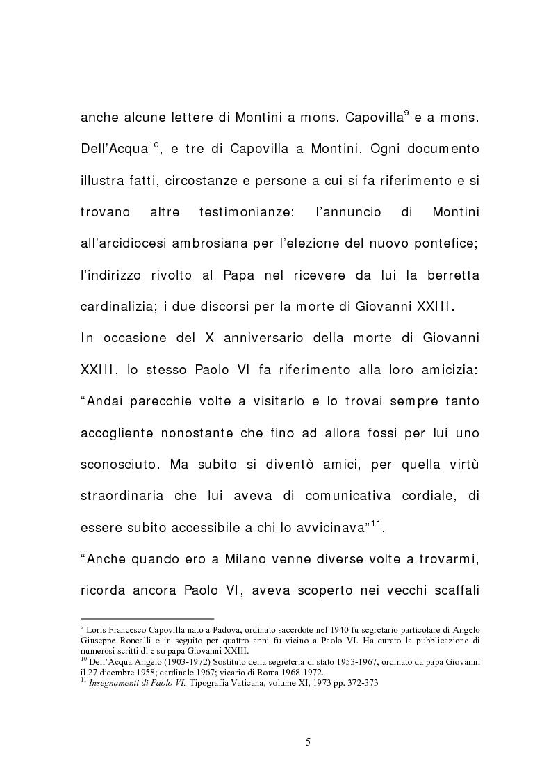 Anteprima della tesi: La corrispondenza tra Roncalli e Montini (1925-1962), Pagina 4