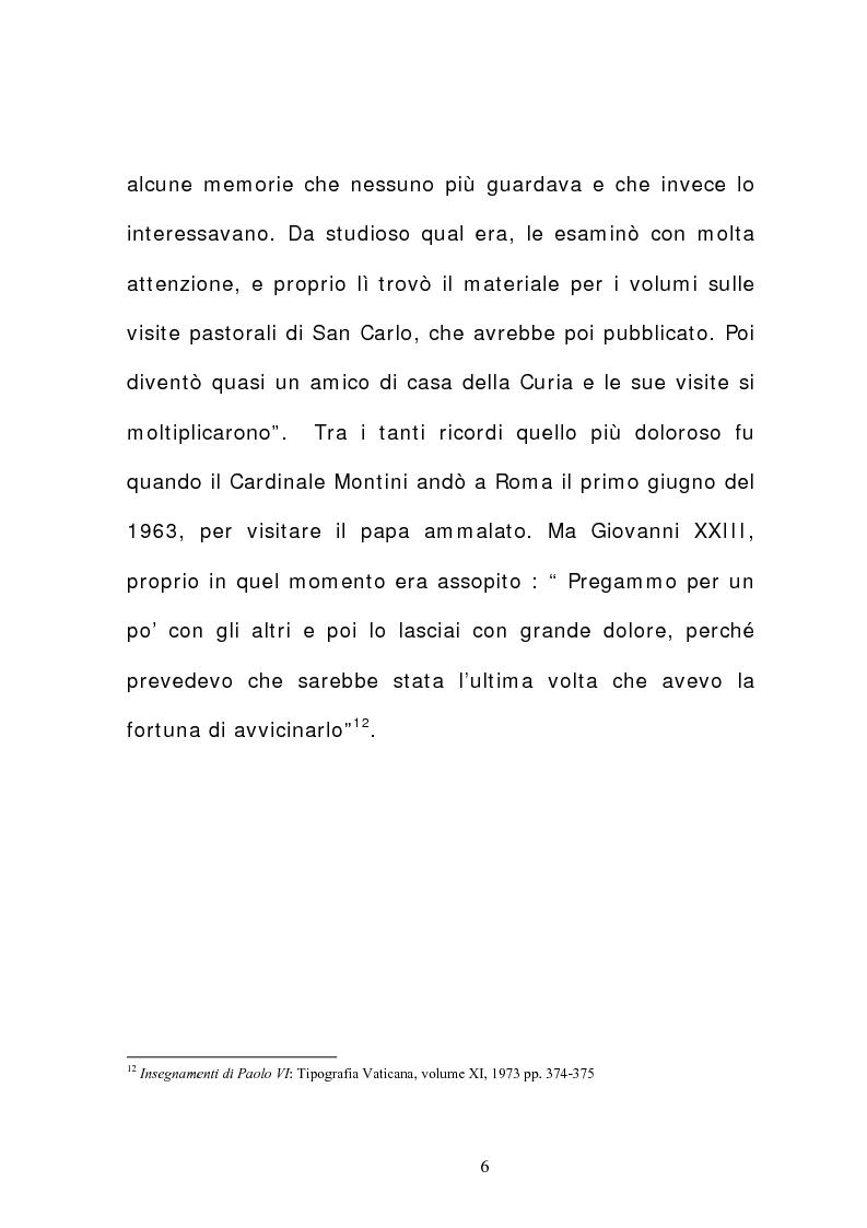 Anteprima della tesi: La corrispondenza tra Roncalli e Montini (1925-1962), Pagina 5