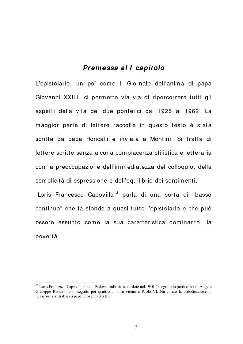 Anteprima della tesi: La corrispondenza tra Roncalli e Montini (1925-1962), Pagina 6