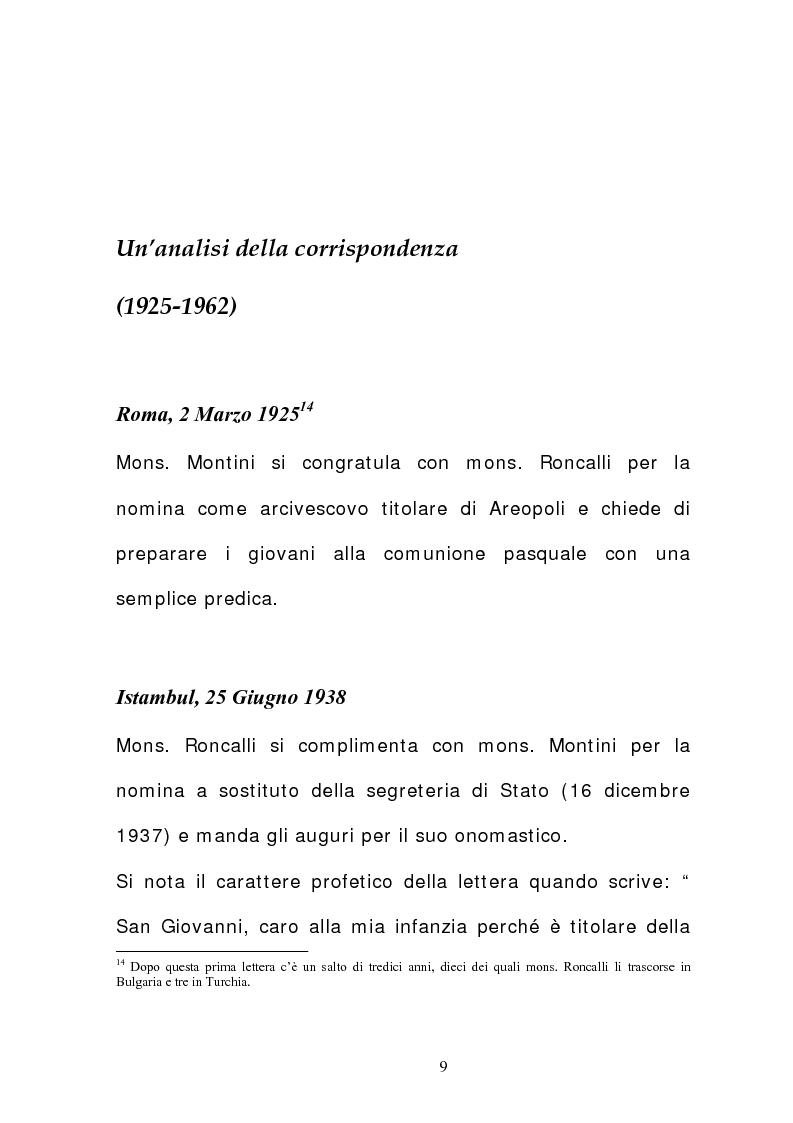 Anteprima della tesi: La corrispondenza tra Roncalli e Montini (1925-1962), Pagina 8