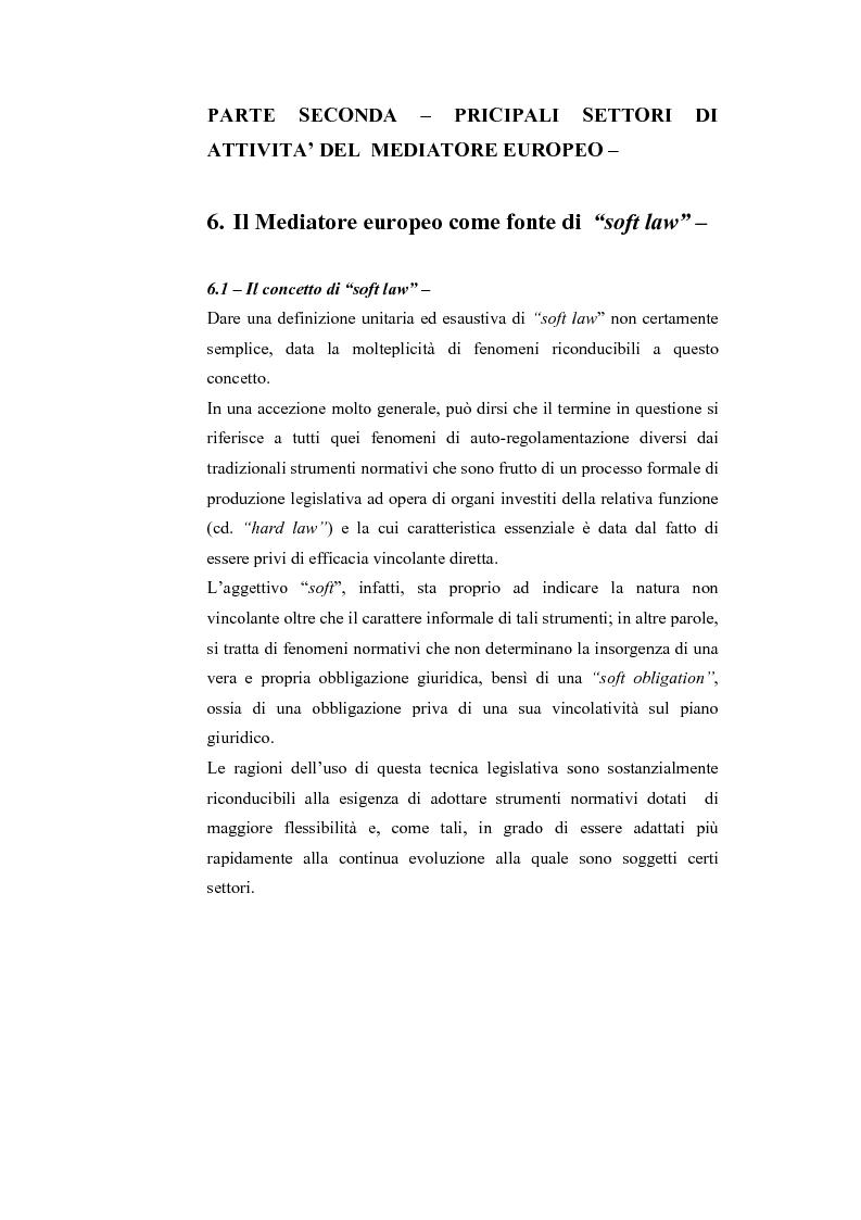 Anteprima della tesi: Il Mediatore Europeo, Pagina 1