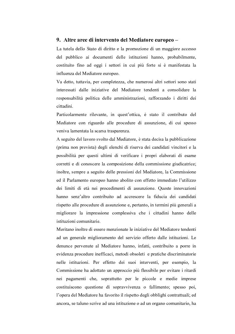 Anteprima della tesi: Il Mediatore Europeo, Pagina 14